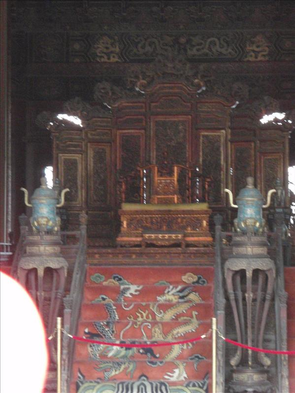 a throne in forbidden palace