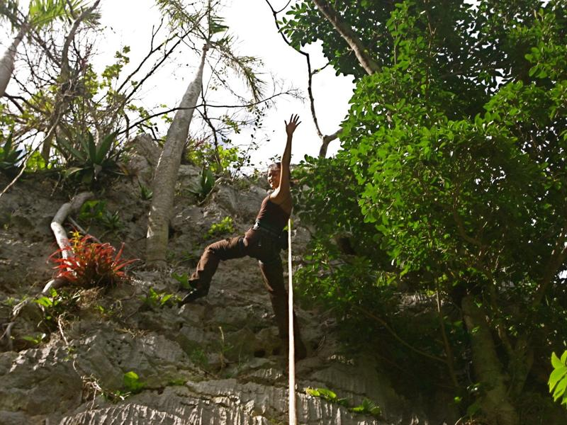 Rock climbing on some crazy cliffs in Vinales.