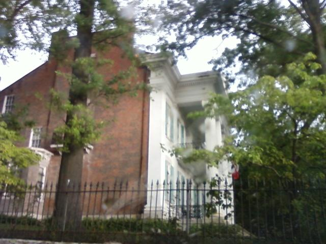a side view of the front of the house