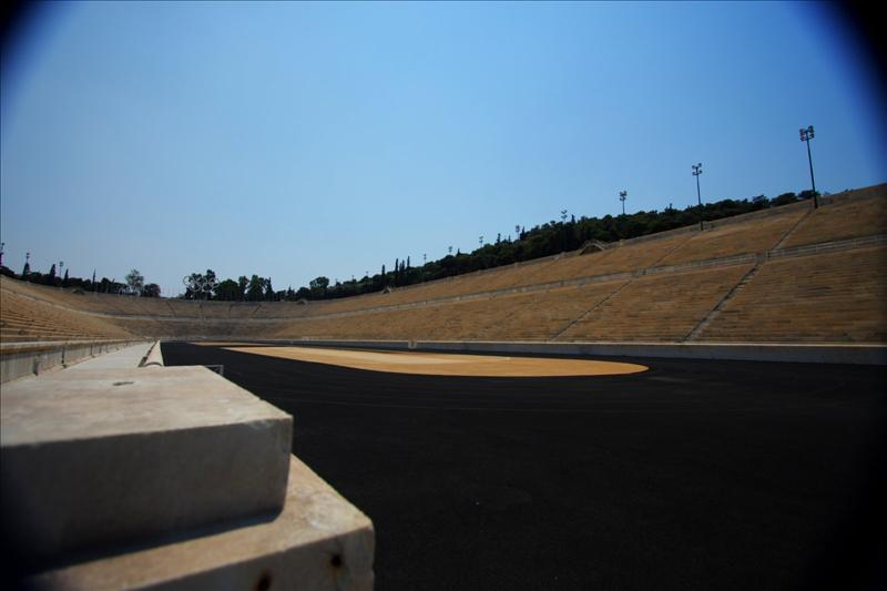 The Panathinaiko or Panathenaic Stadium, also known as the Kallimarmaron