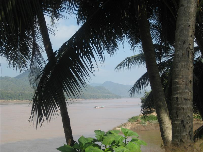 Tranquil, yet enchanting place by the Mekong River