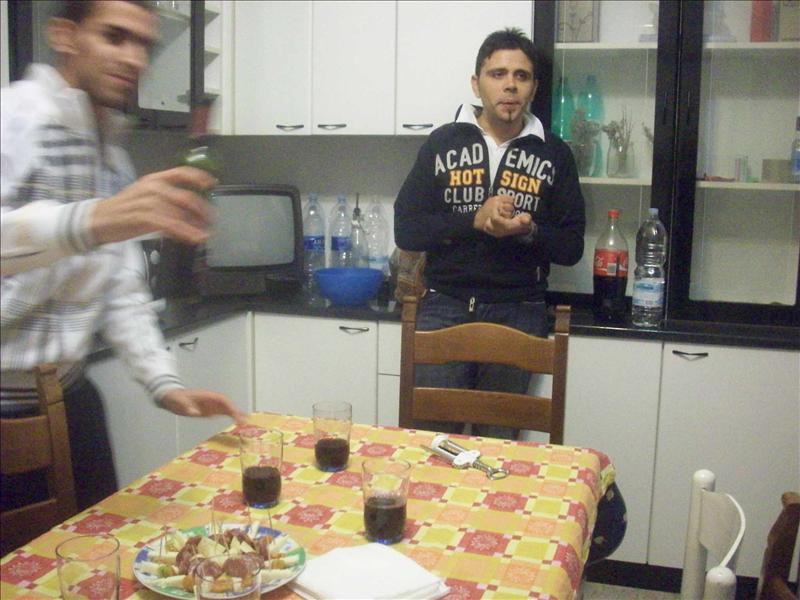Appetizers! Roby and Stefano!
