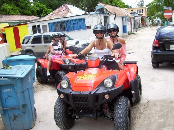We rented ATV's in St Maarten