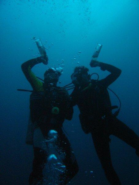 tandem underwater drinking olympics