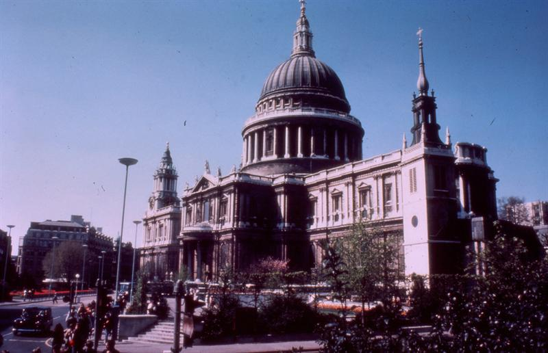 St Paul's, 1980, from a colour slide