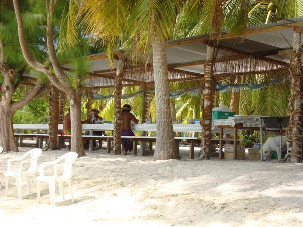 Where we had lunch on Motu (small island)