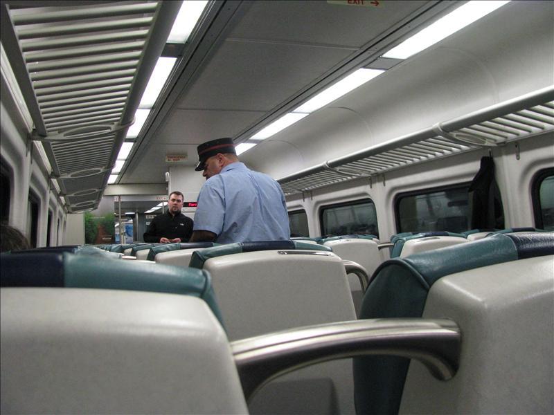 in de trein naar mijn logeeradres