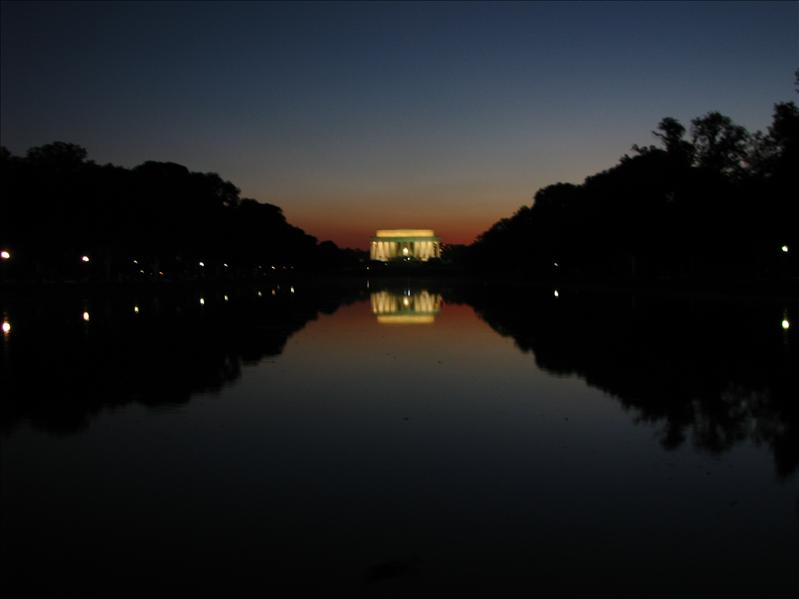 lincoln memorial in de reflecting pool