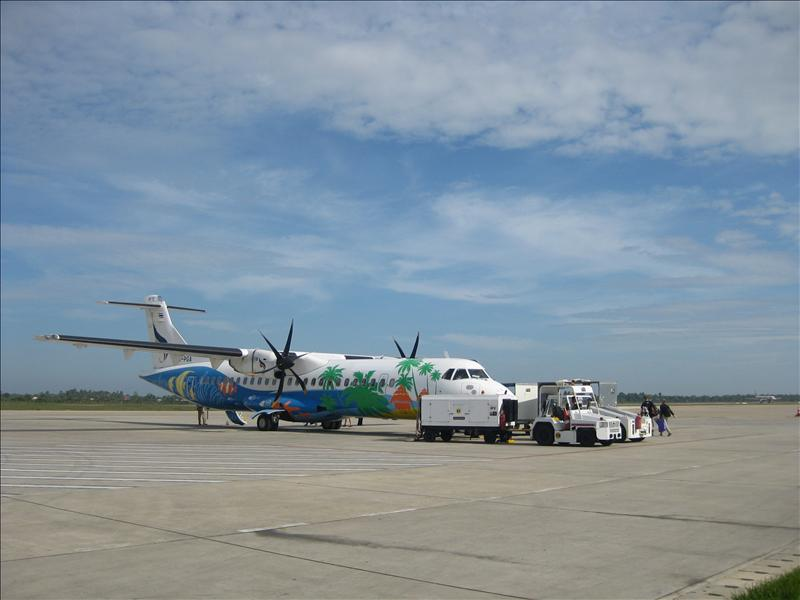 Our colorful airplane back to Thailand