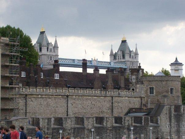 London Bridge as seen from the Tower of London.