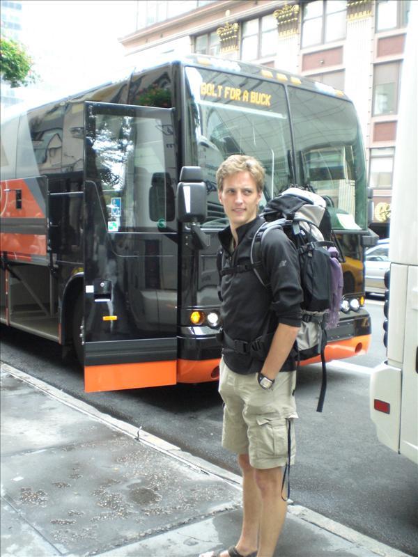 het bussie die ons van Boston naar NY heeft gebracht (dwars door een enorme storm overigens..)