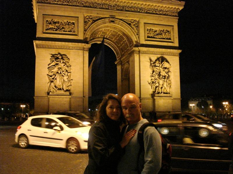 Mark & Tricia at the Arc De Triomphe