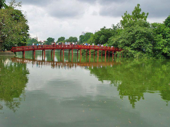 Hoan Kiem Lake, Hanoi.