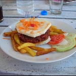 the mutton burger I ate that made me sick