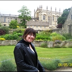Ashley in front of Christ Church.JPG