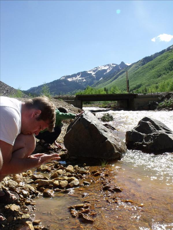 Michael panning for gold