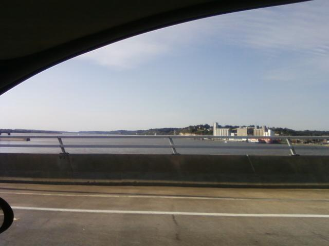 the wide Mississippi River leaving Fast Eddies