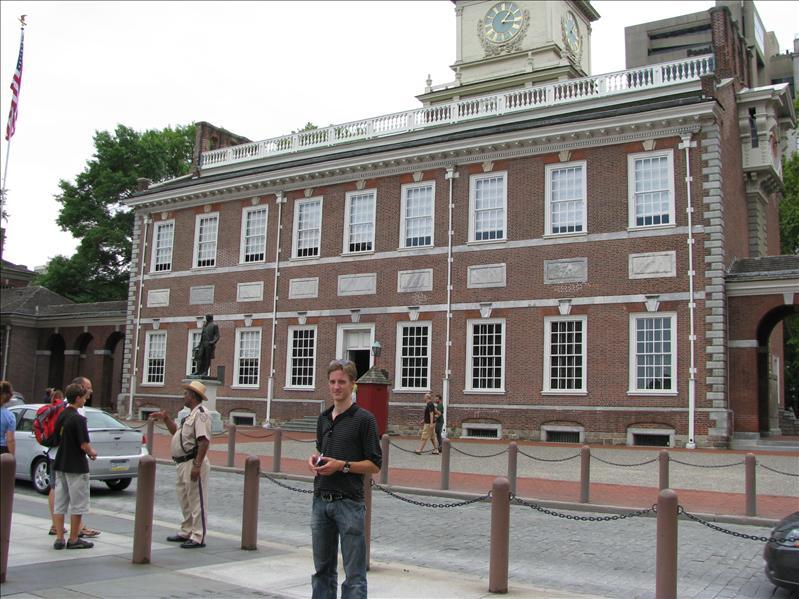 Liberty Hall, waar de klok hing en waar de vergaderingen plaatsvonden