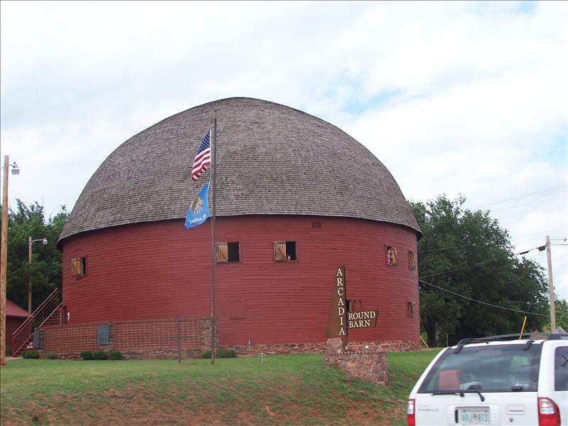 Famous round barn in Arcadia.  It was originally built in 1898 and has been restored very nicely
