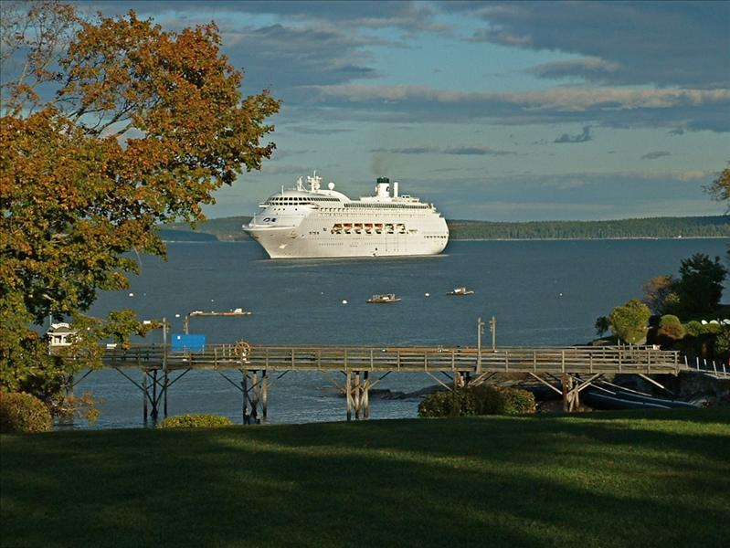Regal Princess, at anchor in Bar Harbor,Maine