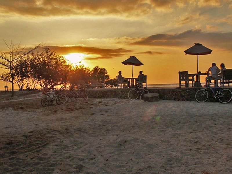 Sunset Cafe at Gili Trawangan Island