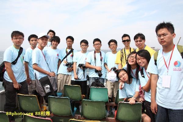 與一些香港的團員和導師在觀光船上的合照 @ 觀光船