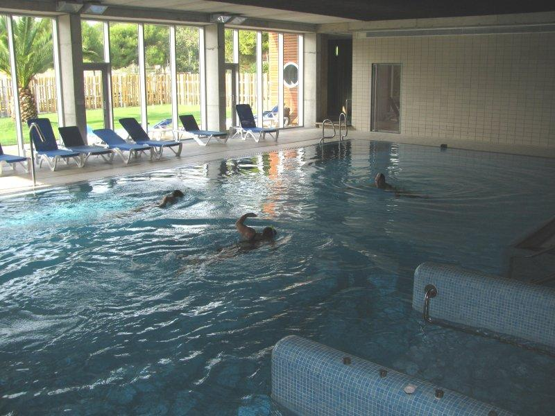 ... the heated indoor pool.