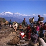 Gathering in the village. Syangja district.