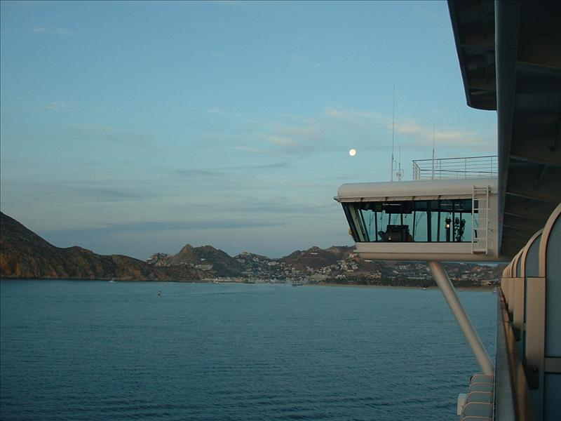 Sailing into Cabo San Lucas, at dawn