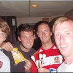 Mike, Me, Kev and Biggins in an Irish Bar