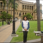 In front of Treasury