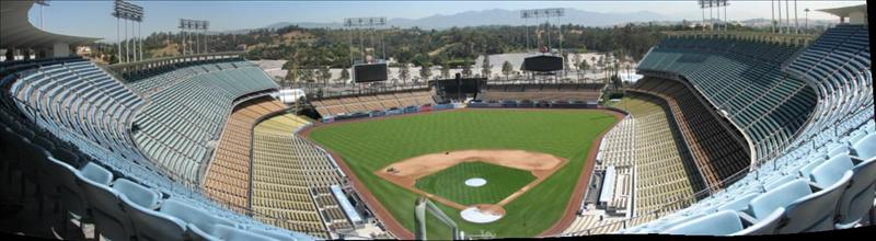panoramic shot of Dodger Stadium