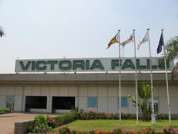 Vic Falls Airport... Just got off the plane and it was friggin HOT!!