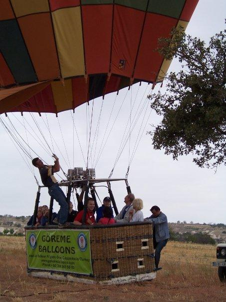 THE BALLOON HAS LANDED, CAPPADOCIA