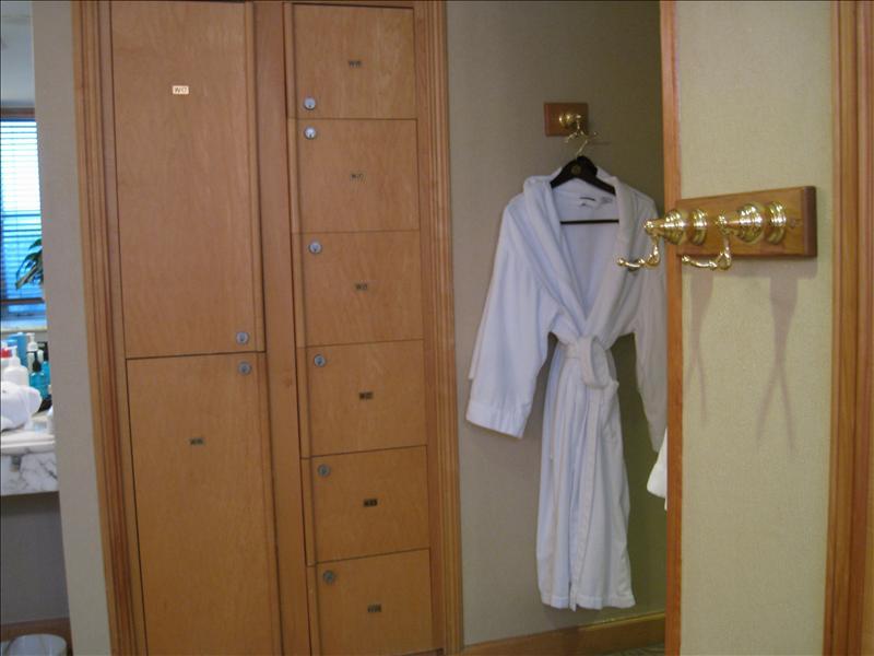 ladies room with the sauna