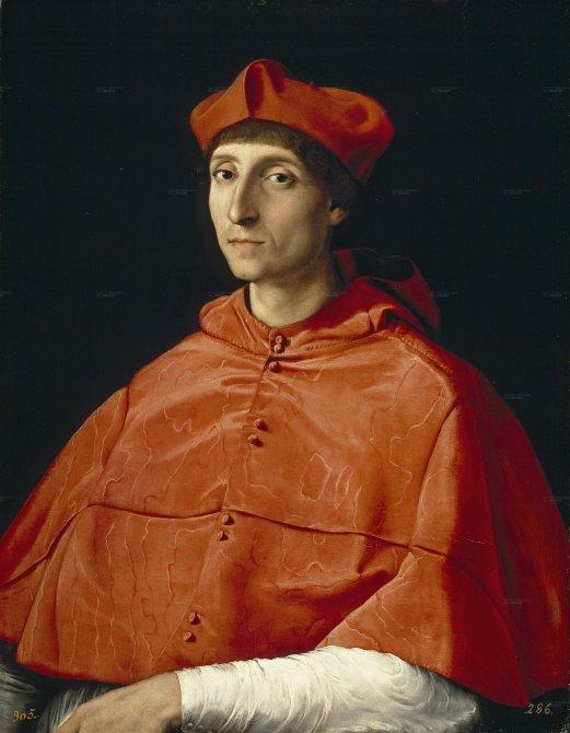"...including  ""The Cardinal"" by Raphael."