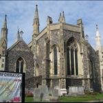 St. Mary the Virgin Church of Dover.  It a Norman church and was built between 1066 and 1086.
