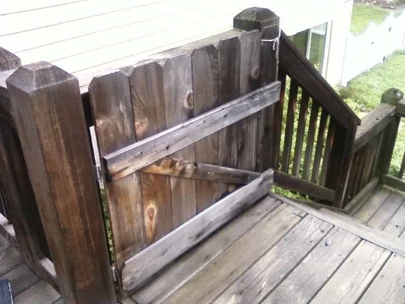 a cedar gate I built myself for next to no money!