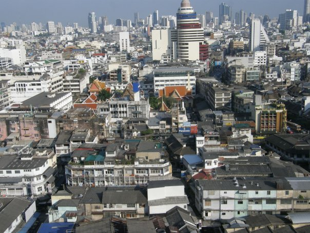 The view of Bangkok from our hotel room at the Grande Ville.