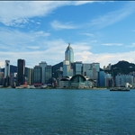 Our view of Hong Kong Island