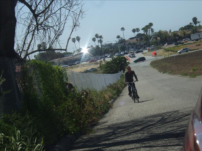 STING riding his bike, Malibu