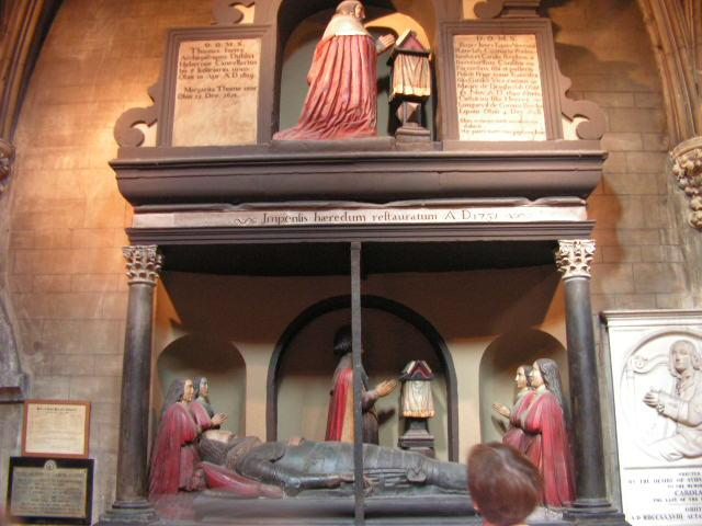 One of the cryptsand memorials at St. Pats