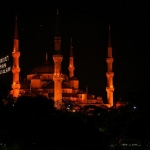 The Blue Mosque of Sultanahmet at night