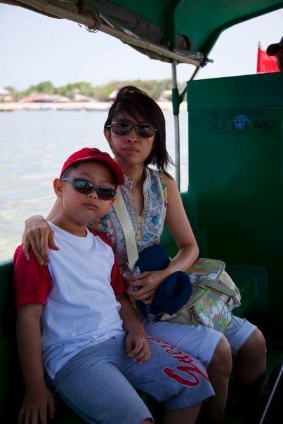 On the way to Pulau Penyu (Turtle Island).