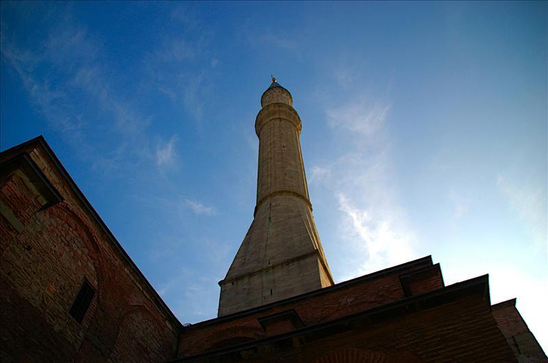 One of the tower of Ayasofya (St. Sophia)