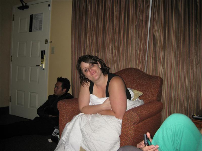 Lauren in her sexy sheet/blankets