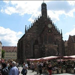Nuremberg has a large market square...