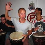 Ryan, Obed, our salsa teacher, and Trevor.