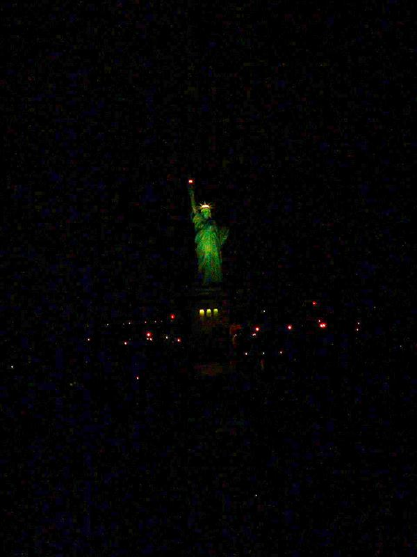 New York's Lady Liberty at Night