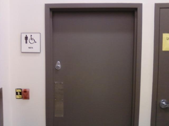 the bathroom door of Walgreens, very corporate right?
